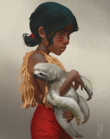 Sloth and Girl by nicheltoten