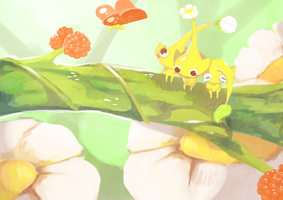 Yellow Pikmin by Teatime-Rabbit