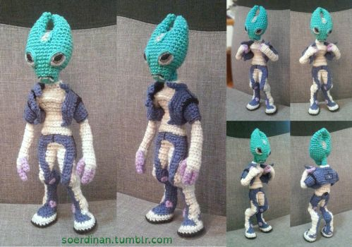 Mass effect - Crocheted salarian 2 by Soerdinan