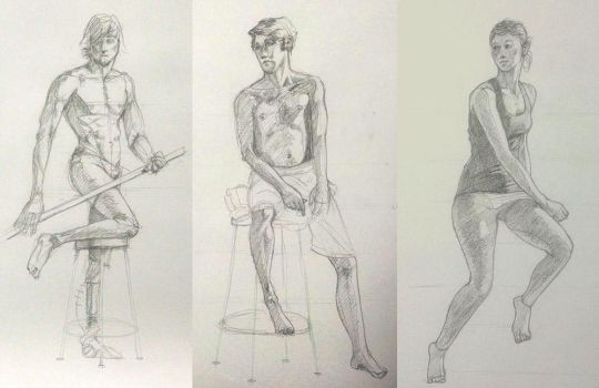 Figure Class Long Poses by SentWest