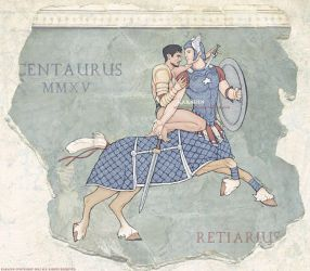 Centaur and Retiarius by karadin