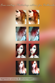 Free Vintage Photoshop Action for Redheads by petra-gergely