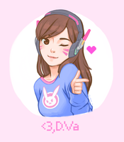 Love, D.Va by lyseeart