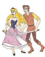 Eilonwy and Taran by 13foxywolf666