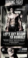 Boxing Fight Flyer Template by prassetyo