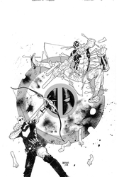 Hawkeye Vs Deadpool cvr 0 by JHarren