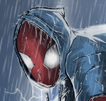 Scarlet Spider (JRJr. Hommage) Detail Shot by BouncieD