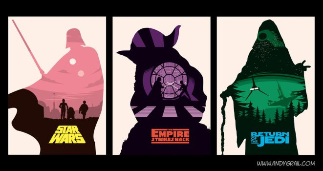Star Wars Posters by Andy Grail by abonny