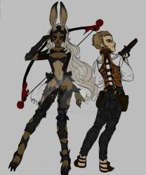 Fran and Balthier by Lily-pily