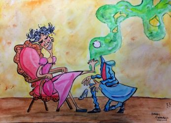 The stepsister, the shoe and the smell by IsraelCampos