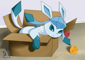 Glaceon in a Box by Tanbi-no-Kami