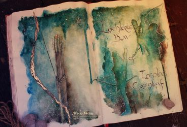 Lothlorien bow of Legolas Greenleaf by Kinko-White