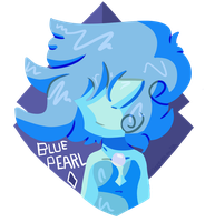 .:Blue Pearl Badge for Comic Con:. by SleepyStaceyArt