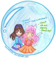 AT - Upanti and Ju in a bubble by Juliana1121