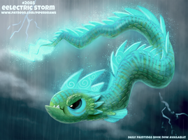 Daily Paint 2085. Eelectric Storm by Cryptid-Creations