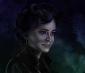 Eva Green as Miss Peregrine by ClementAna