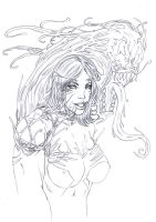 symbiote girl face by vic55b