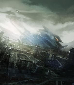 Spaceship Crashsite by Hideyoshi