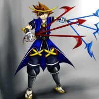 Crazy Sora Crossover Art Trade by x-Memoire-x