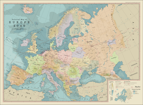 Political Map of Europe 2040 by procrastinating2much