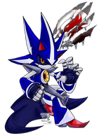 Commission- Neo Metal Sonic::Project Phoenix by Feniiku