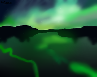 Aurora Boreal -  Northern Lights by RebecaGames
