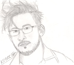Markiplier Line Art by OhNoDraws