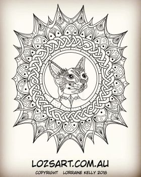 Celtic Tangled Cat by LorraineKelly