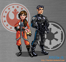 Jaina and Jag: New Jedi Order by KMRicker