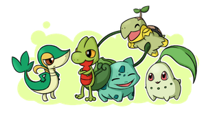 Pokemon Grass Starters by ChibiTigre