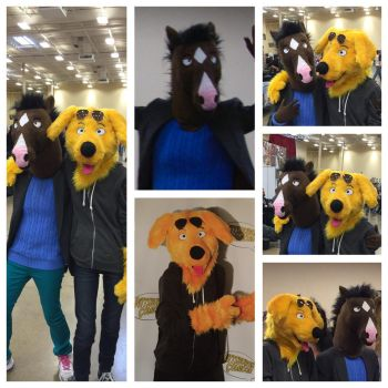 Bojack Horseman and Mr.Peanutbuttercosplay by Yamishizen