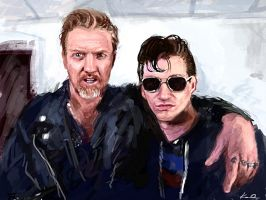 Josh Homme and Alex Turner by kaio89
