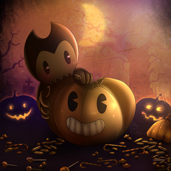 Happy Halloween Bendy by gisselle50
