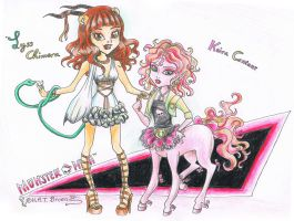 Lyss and Keira Monster High Contest by Kythana