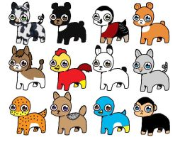 Bright Eyes Pets 10pt(3 7 8 12 open) by katamariluv