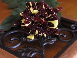 Rose on Iron Scrollwork by Limner-stock