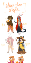autumn pokemon adopts [4/5 OPEN] by outonalark