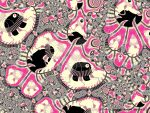 Pink and Black Elephants by GeaAusten