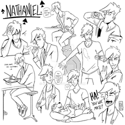 Nathaniel Sketches by Spikings