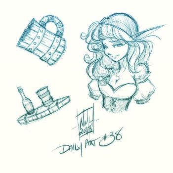 Daily Art #38 by fenrier