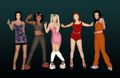 Spice girls poster from our new game by GetLostGames