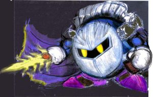 Old Meta Knight drawing by MeGa78