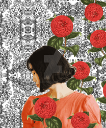 Floral Abstract Girl Collage by Zala02Creations