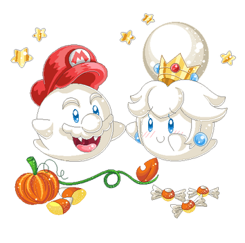 .:Pixel Art: Sweet ghosts:. by ThePinkMarioPrincess