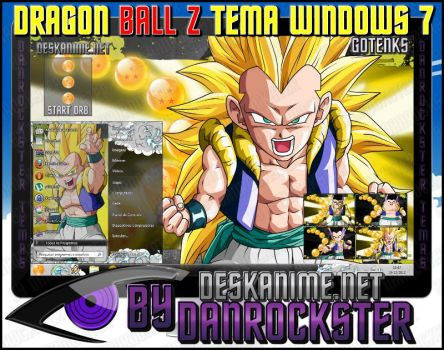 Gotenks Theme Windows 7 by Danrockster