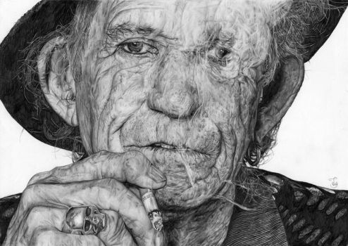 Keith Richards by Skippy-s