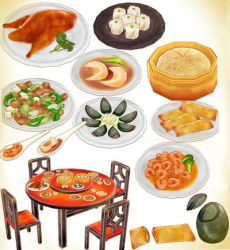 Chinese buffet pack V2 MMD download by Hack-Girl