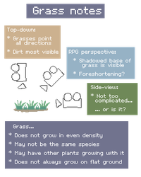 Personal notes for grass tiles by Pix3M