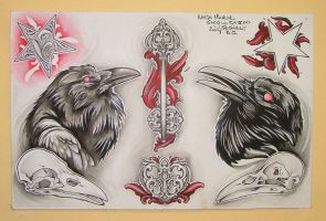 Tattoo Flash by The-Orchid-Snatcher