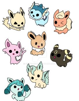 Eeveelutions pt.2 +pt.1 full colour by Cupycakey
